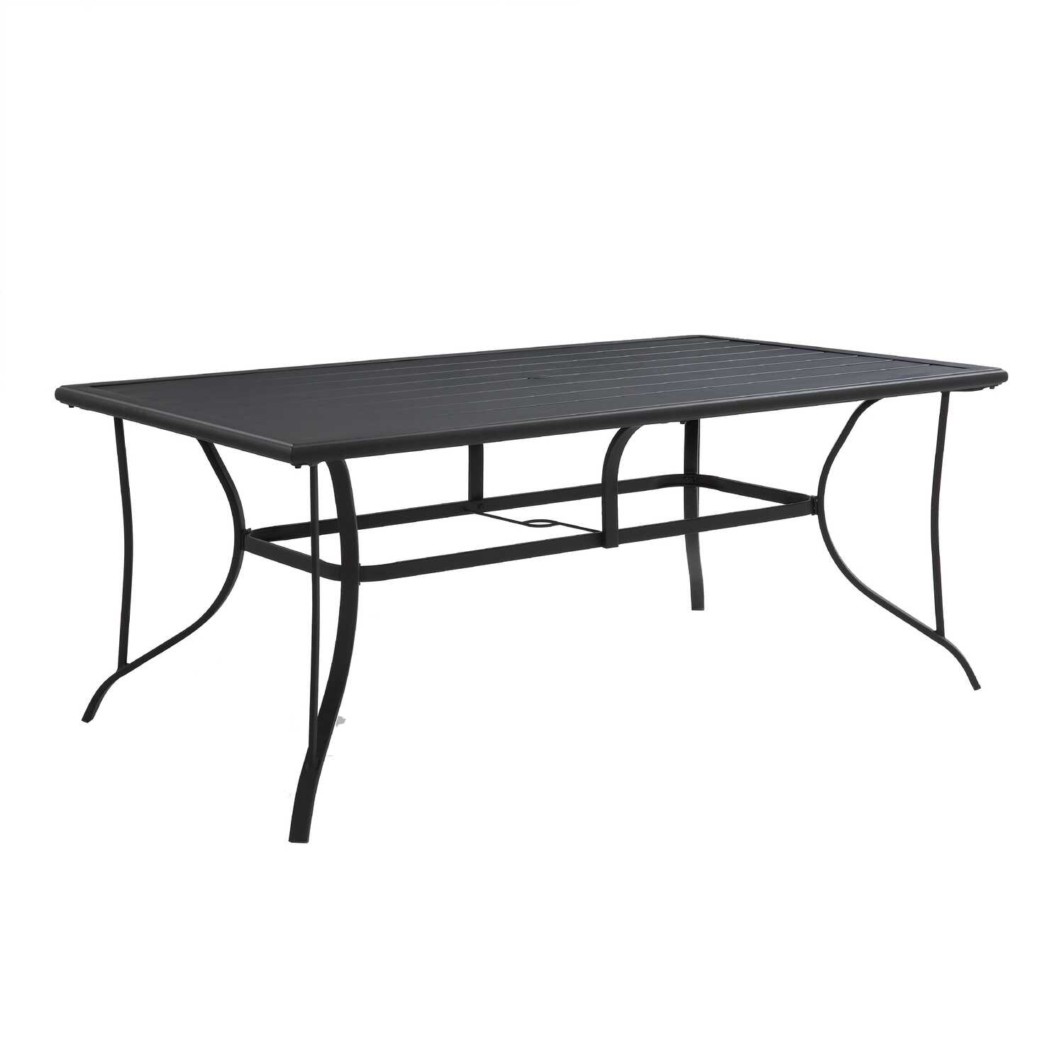 Living Accents  Black  Rectangular  Steel  Dining Table