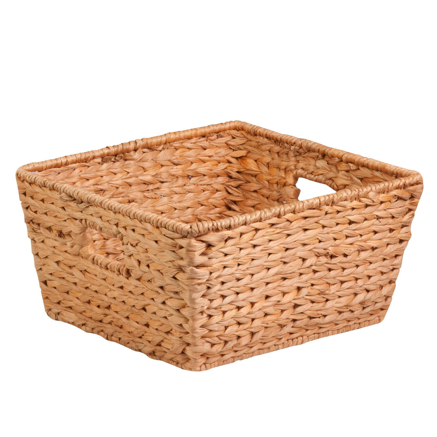 Honey Can Do  Banana Leaf  15 in. W x 15 in. L x 8 in. H Brown/Natural  Basket