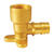 Apollo Expansion PEX / Pex A 1/2 in. PEX x 1/2 in. Dia. FPT Brass Drop Ear Elbow