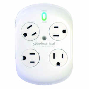 360 Electrical  Revolve  918 J 4 outlets Surge Protector