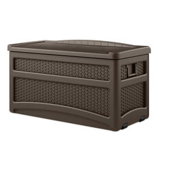 Suncast  Brown  Plastic  Deck Box with Seat