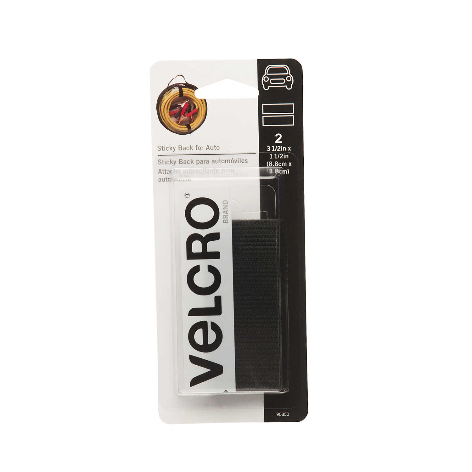 Velcro  3-1/2 in. L Hook and Loop Fastener  2 pk