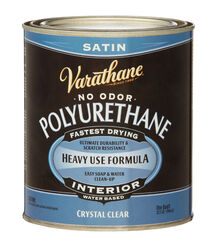 Varathane Satin Crystal Clear Water-Based Polyurethane 1 qt.