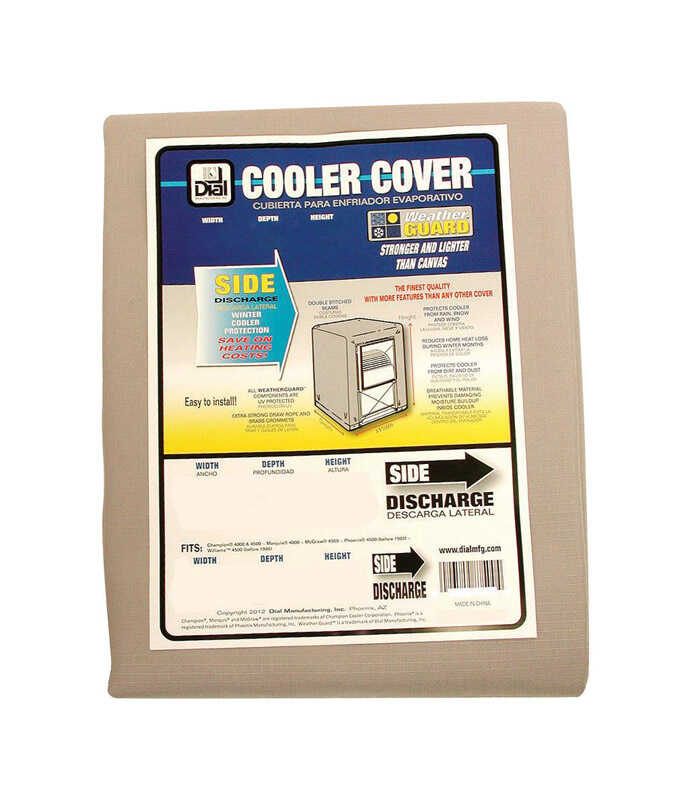 Dial  28 in. H x 28 in. W Gray  Evaporative Cooler Cover  Polyester