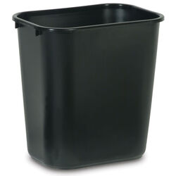 Rubbermaid  7 gal. Black  Medium  Commercial Wastebasket