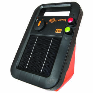 Gallagher  S10  6 volt Solar  Fence Energizer  3 mi. Black/Orange