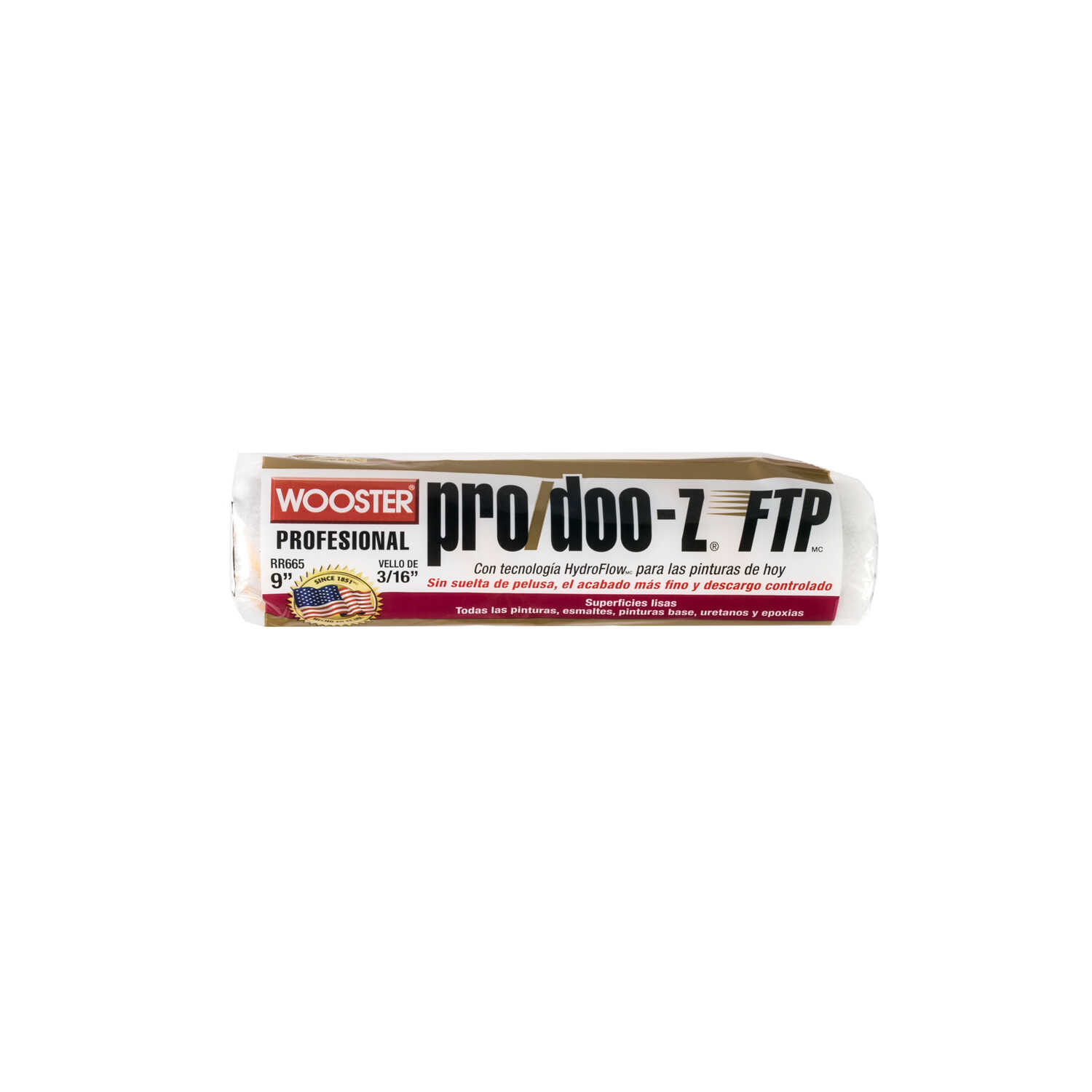 Wooster  Pro/Doo-Z FTP  Synthetic Blend  3/16 in.  x 9 in. W Paint Roller Cover  For Smooth Surfaces