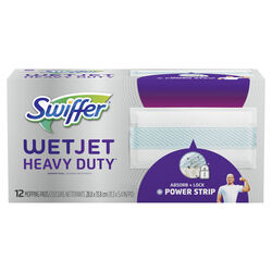Swiffer  WetJet Heavy Duty  11.3 in. W x 5.4 in. L Cloth  Refill Pad  12 pk