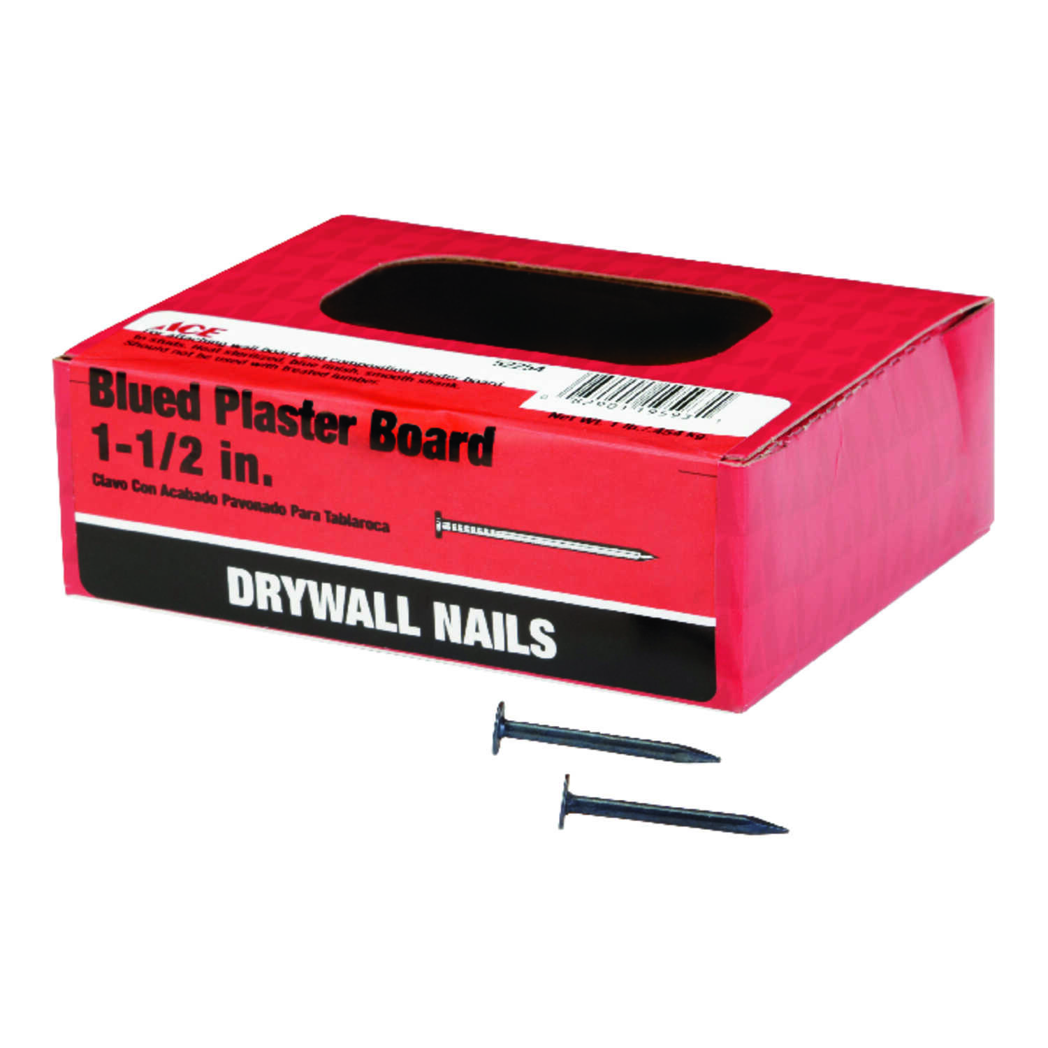 Ace  1-1/2 in. L Drywall  Blue  Steel  Nail  Smooth Shank  Round  1 lb.