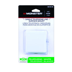 Monster  Just Hook It Up  1-Jack  Phone Jack  Surface-Mount