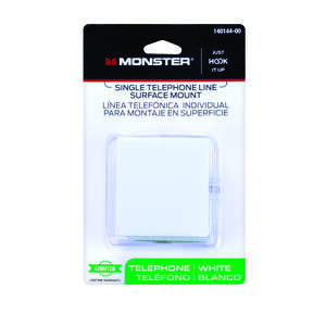 Monster Cable  Phone Jack  Surface-Mount  1-Jack