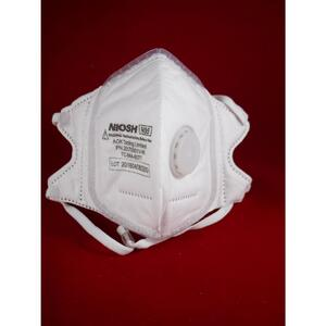 SoftSeal  N95  Multi-Purpose  V-Fold  Disposable Respirator  Valved White  L  3 pk