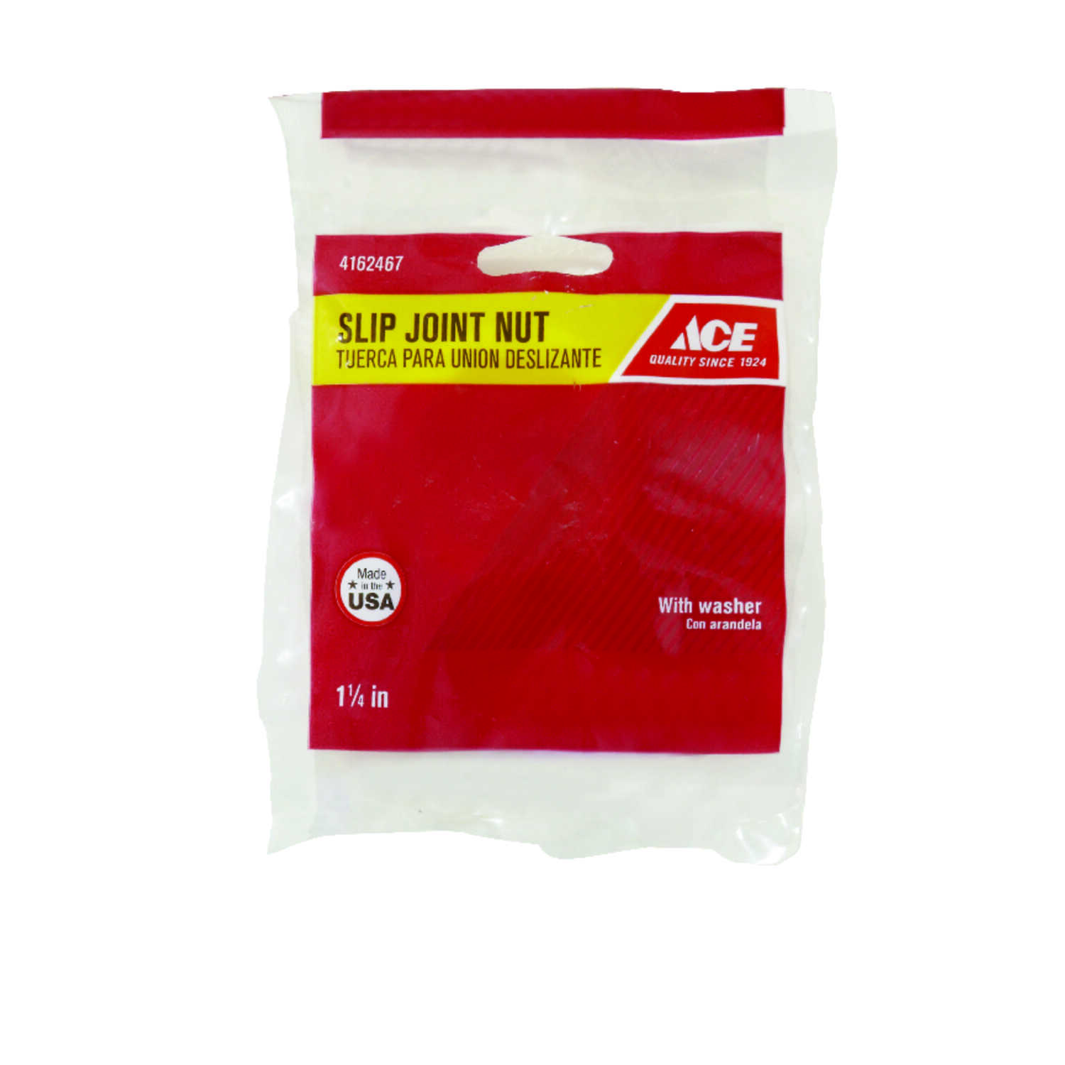 Ace  1-1/4 in. Dia. Plastic  Slip Joint Nut