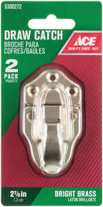 Ace  Bright  Zinc  2 pk Decorative Drawer Catch