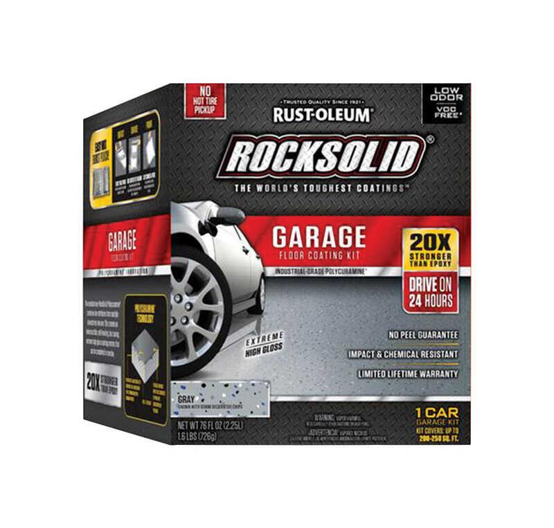 Rust Oleum Rocksolid Gray Garage Floor Coating Kit 76 Oz