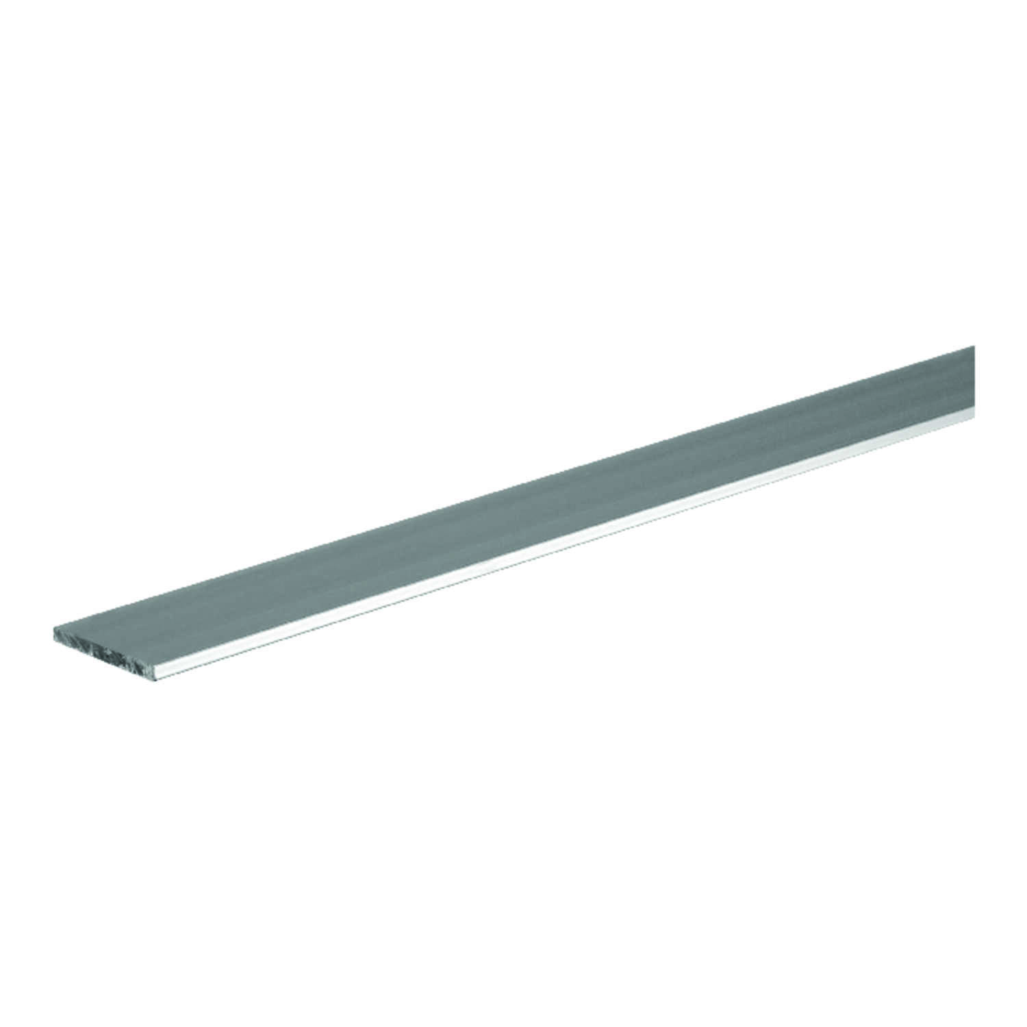 Boltmaster  0.125 in.  x 0.75 in. W x 4 ft. L Weldable Aluminum Flat Bar  1 pk