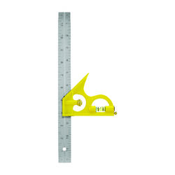 Great Neck  12 in. L x 11/16 in. H Stainless Steel  Combination Square Level and Scriber  Silver