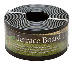 Master Mark  Terrace Board  20 ft. L x 4 in. H Plastic  Black  Lawn Edging