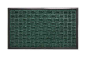 Bacova Guild  Saver II  Green  Rubber  Nonslip Floor Mat  30 in. L x 18 in. W
