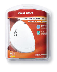 First Alert  Battery-Powered  Photoelectric  Smoke Alarm
