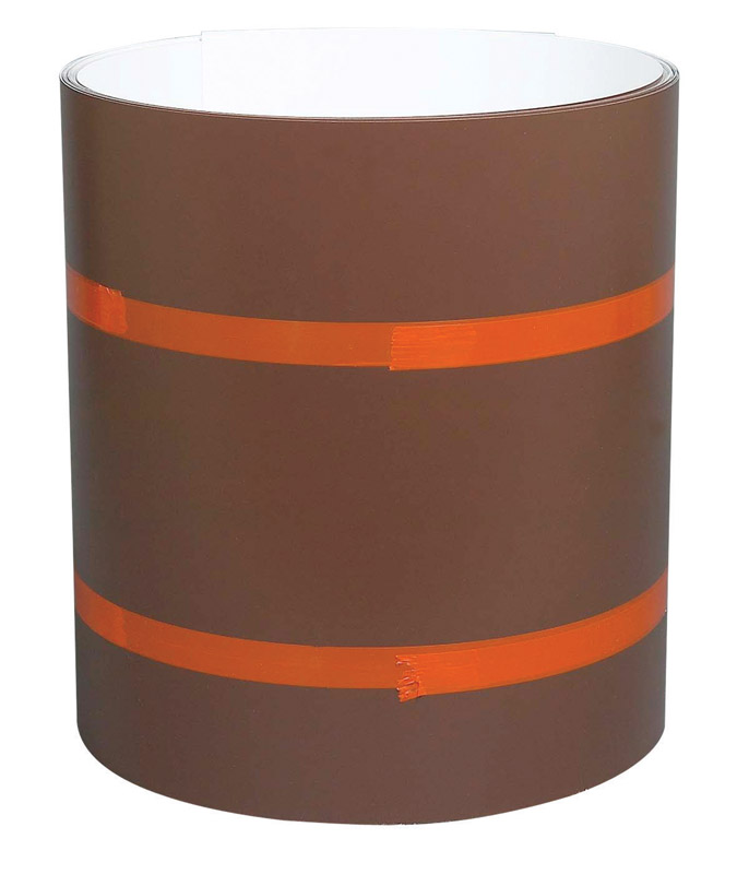 Amerimax  10 in. H x 10 in. W x 50 ft. L White/Brown  Aluminum  Painted Coil  Cylindrical