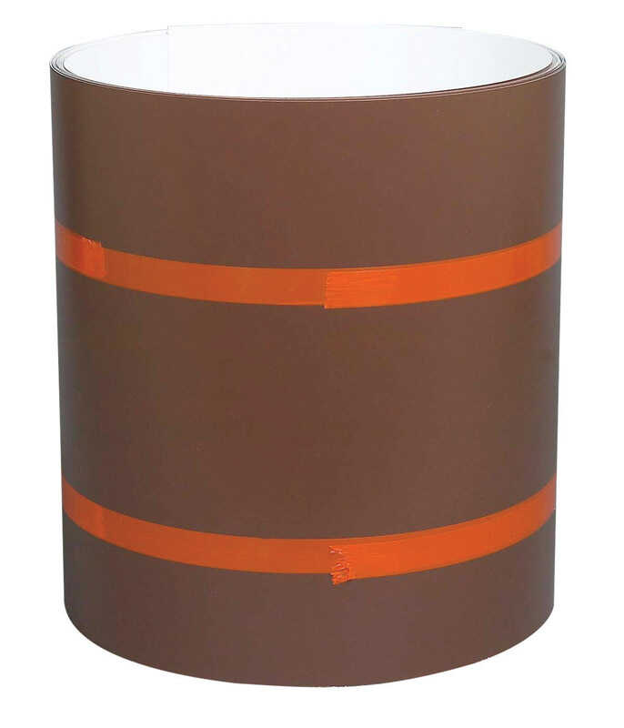 Amerimax  10 in. H x 10 in. W x 50 ft. L Berger Musket Brown/White  Aluminum  Roll  Painted Coil