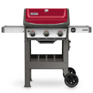 Weber  Spirit II E-310  3 burners Propane  Red  Grill  30000 BTU