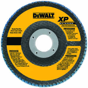 DeWalt  4-1/2 in. Dia. x 7/8 in.   Zirconia Aluminum Oxide  Flap Disc  60 Grit Medium  13300  1 pc.