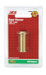 Ace  0.5 in. Dia. 160 deg. Bright  Brass  Door Viewer