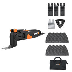 Worx  Sonicrafter  3 amps Corded  Oscillating Multi-Tool  Kit  21000 opm