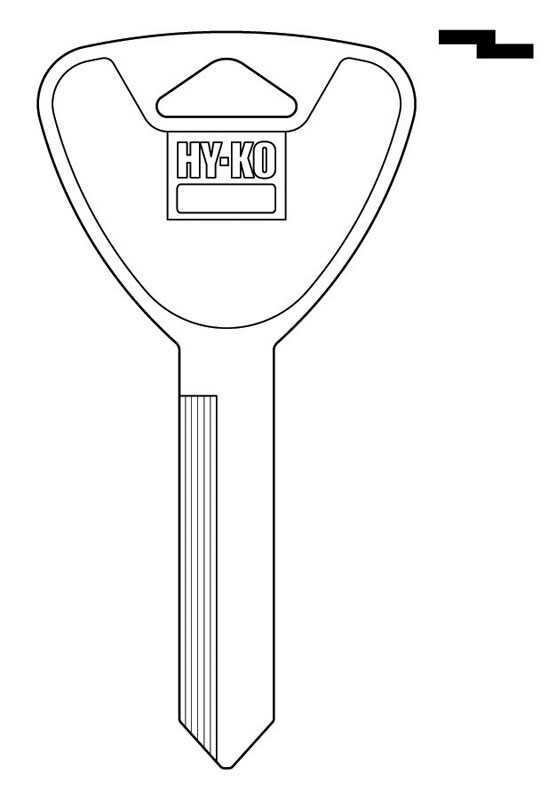 Hy-Ko  Automotive  Key Blank  EZ# H62  Double sided For 1991-1996 Ford Escort Zx2 and Mercury Tracke