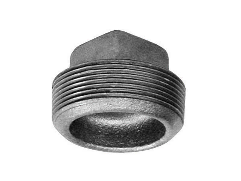 BK Products  1-1/4 in. MPT   Galvanized  Malleable Iron  Plug