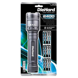 Dorcy  DieHard  2400 lumens Gray  LED  Flashlight  AA Battery