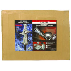 Selkirk  6 in. Stainless Steel  Stove Pipe Ceiling Support Kit