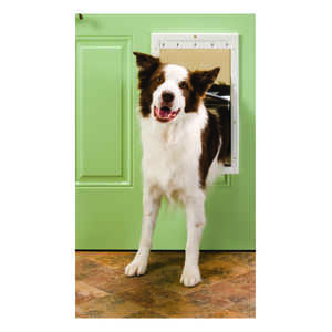 Petsafe Pet Door Large For Pets up to 100 lb. 10-1/8 in. x 15-3/4 in. White Plastic