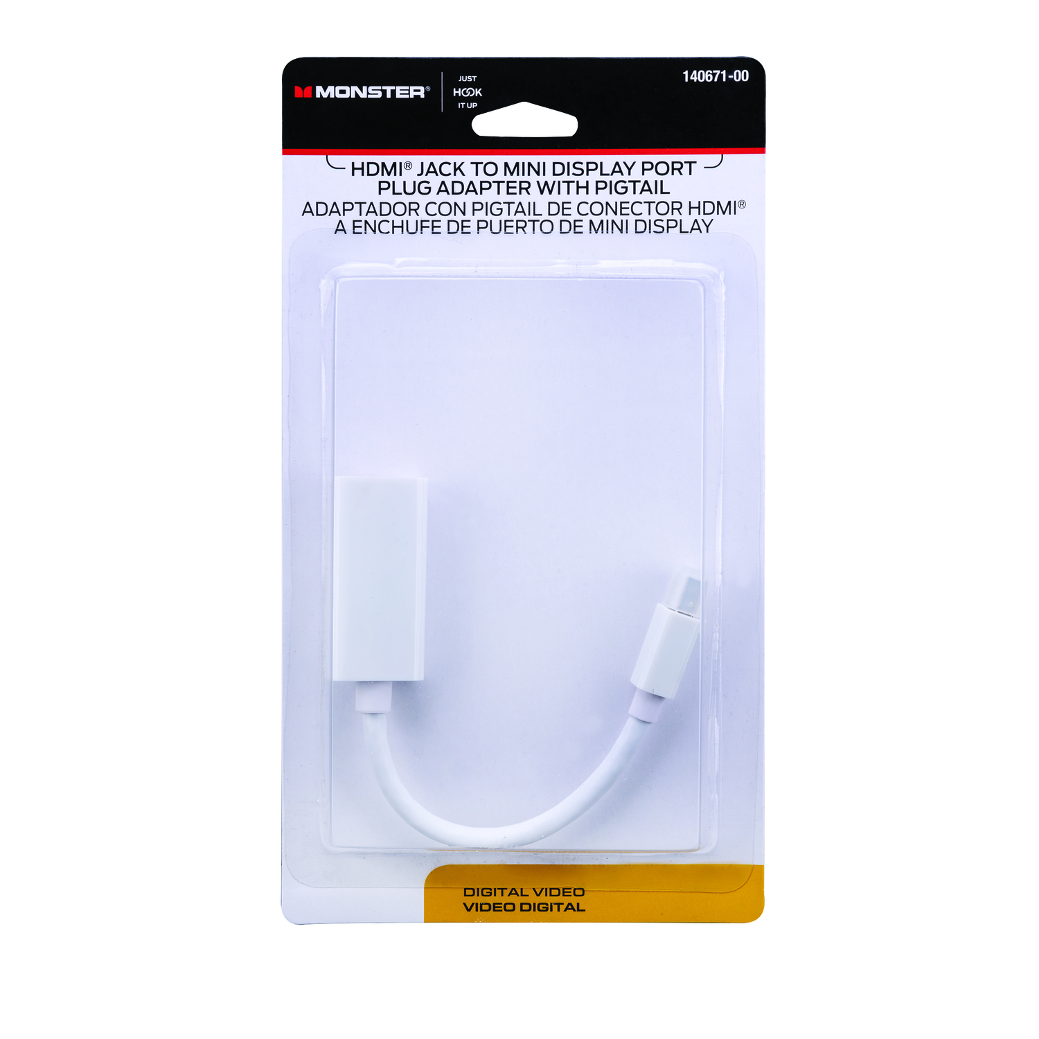 Monster Cable  Just Hook It Up  Adapter  1 each 6 in. L