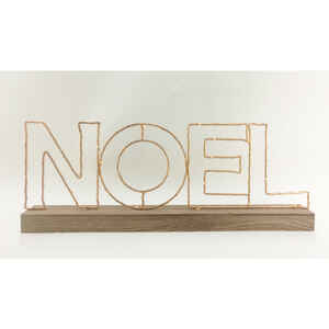 Gerson  Battery Operated Noel Sign  LED Christmas Decoration  Metal  1 each