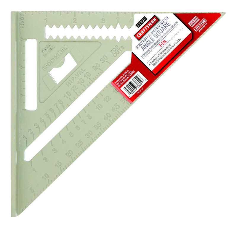 Craftsman  7  L x .5 in. H x 7 in. H Aluminum  Rafter Angle Square  Gray