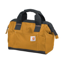 Carhartt  Trade  11 in. W x 7-1/2 in. H Heavy Duty Poly Fabric  Tool Bags  Light Brown