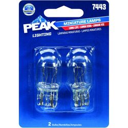 Peak Halogen Parking/Stop/Tail/Turn Miniature Automotive Bulb 7443