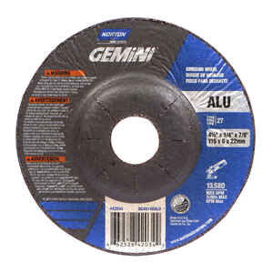 Norton  4-1/2 in. Dia. x 1/4 in. thick  x 7/8 in.   Aluminum Oxide  Grinding Wheel  13580 rpm 1 pc.