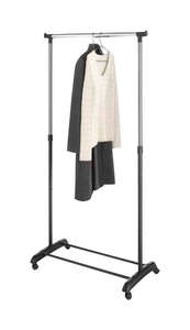 Whitmor  18-1/4 in. W x 66 in. H x 33 in. L Adjustable Garment Rack  1  Steel