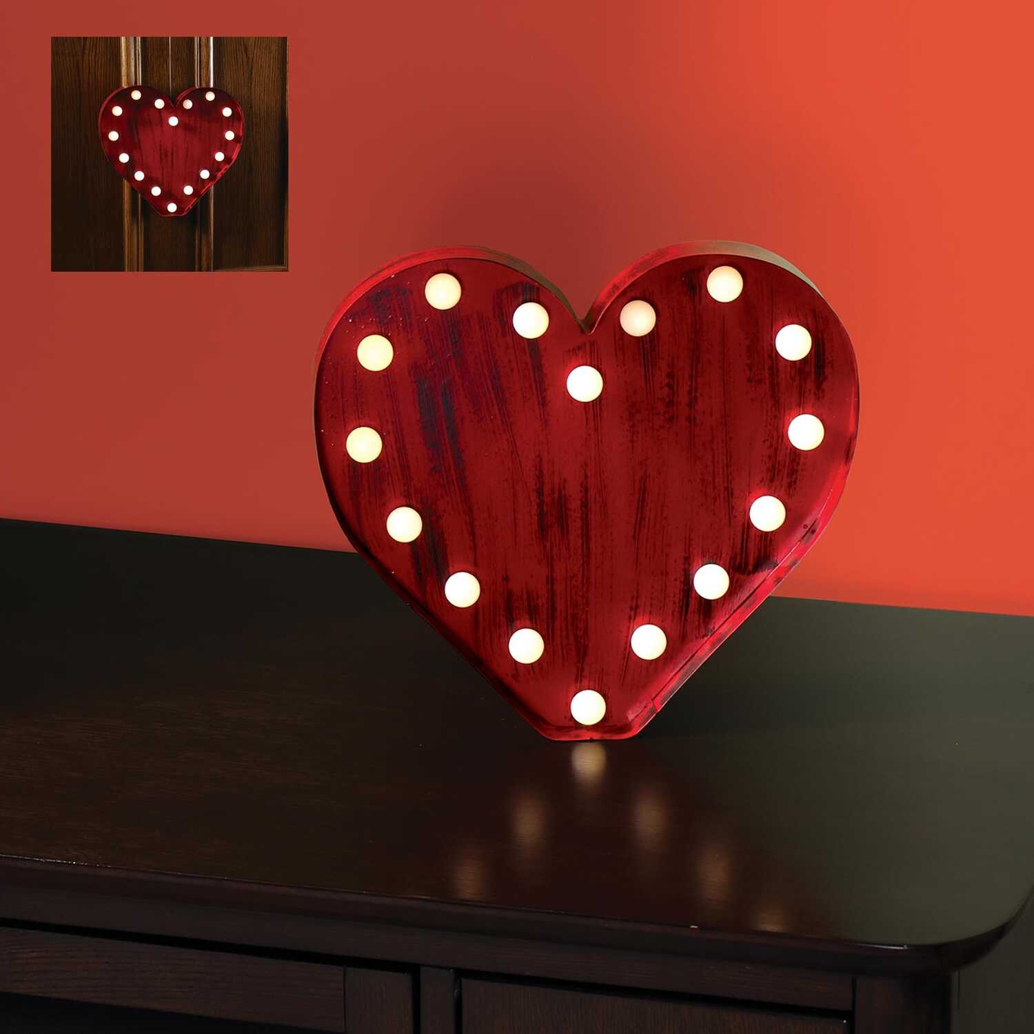Sylvania  Valentines Day  1 each Metal  Tabletop Decoration