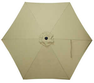 Quik Shade  LED  9 ft. Tan  Patio Umbrella
