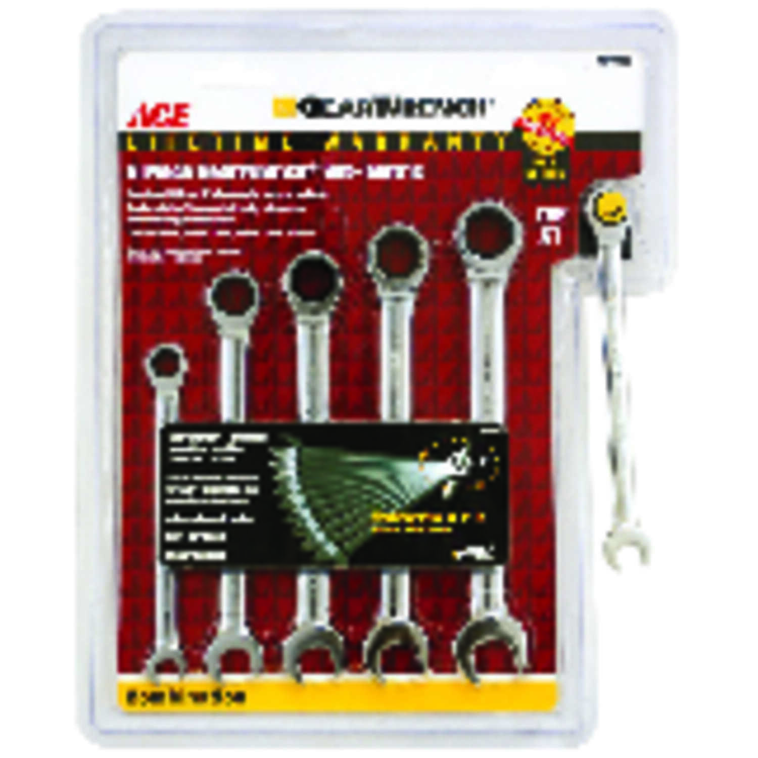 Ace  Multiple   Metric  Ratcheting Gearwrench Set  6 pc.