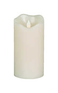 Gerson  No Scent Scent Ivory  LED  Candle  6 in. H x 3 in. Dia.
