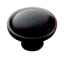 Amerock  Allison  Round  Cabinet Knob  1-1/4 in. Dia. 15/16 in. Oil Rubbed Bronze  10 pk