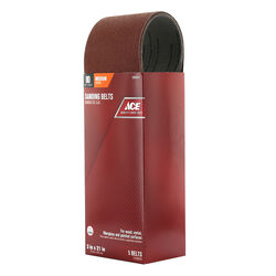 Ace  21 in. L x 3 in. W Aluminum Oxide  Sanding Belt  80 Grit Medium  5 pc.