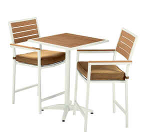 Living Accents  3 pc. White  Resin Wood  Nantucket  Bistro Set