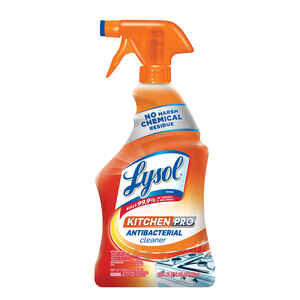 Lysol  Kitchen Pro  Pleasant Scent Antibacterial Cleaner  22 oz. Liquid